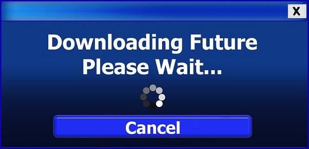 Загружается будущее Подождите, пожалуйста