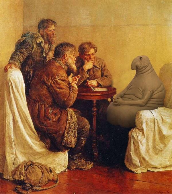 Ждун на картине Ходоки у Ленина