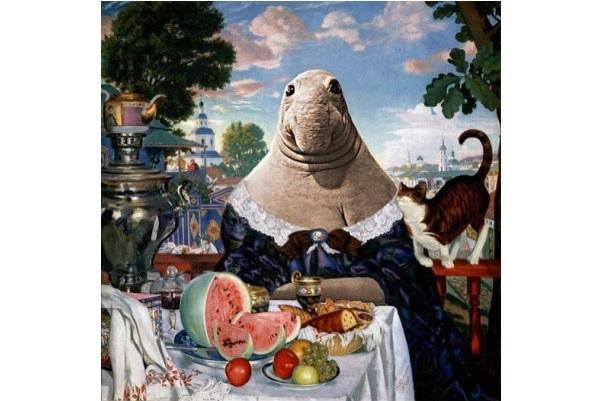 Ждун картина купчиха за чаем