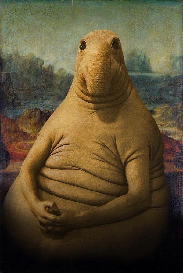 Ждун картина Мона Лиза