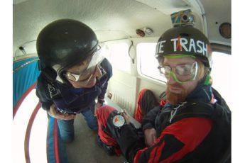 первый прыжок с парашютом