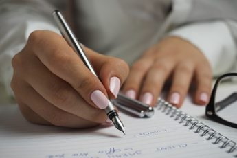 писание ручкой