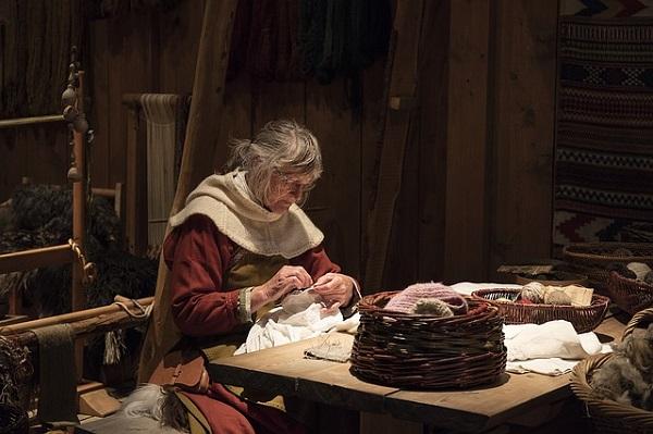 скандинавские женщины прядение ткачество