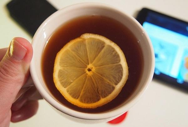 лимон в чай
