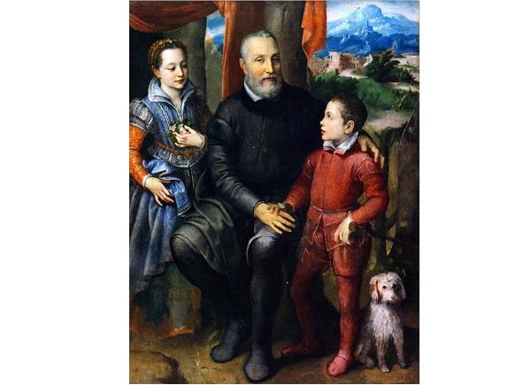 портрет с отцом Софонисбы, братом и сестрой
