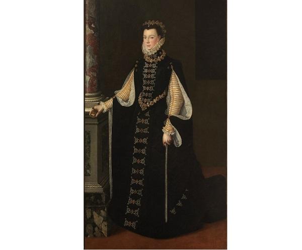 Портрет Элизабет Валуа с портретом Филиппа II