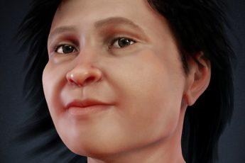 лицо женщины Майя 14000 лет назад