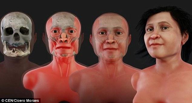 методы судебной реконструкции лица женщины племени майя из Нахарона