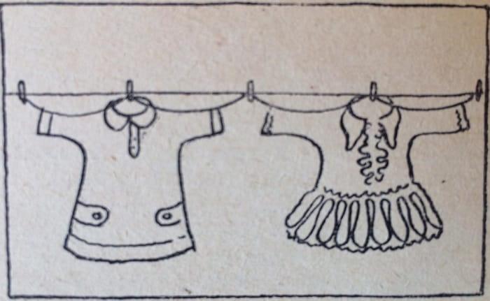 веревка пропущенная через рукава и закрепленная прищепками